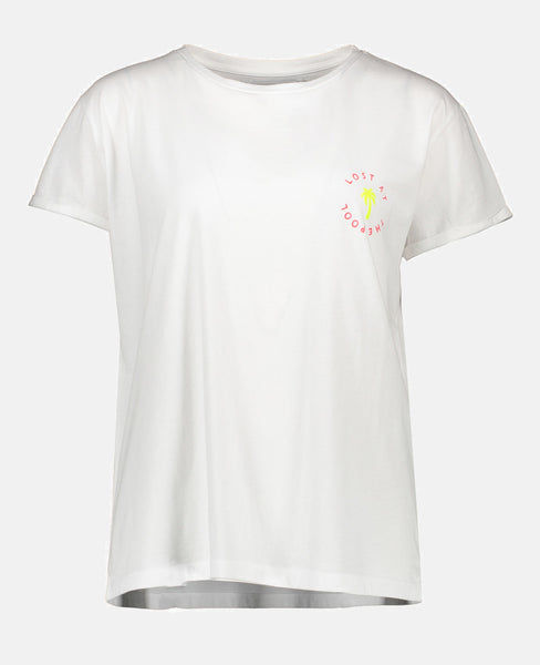 """LOST AT THE POOL"" T-SHIRT WHITE"