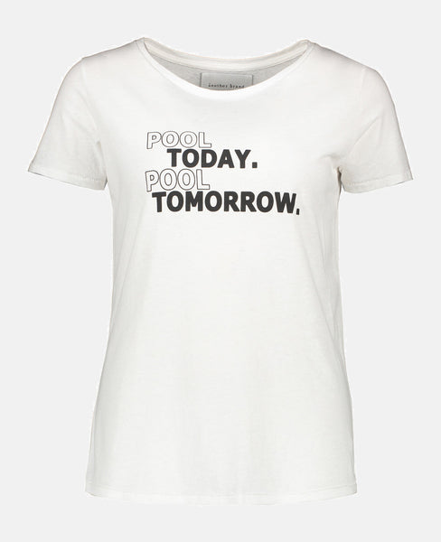 """POOL TODAY POOL TOMORROW"" T-SHIRT WHITE"