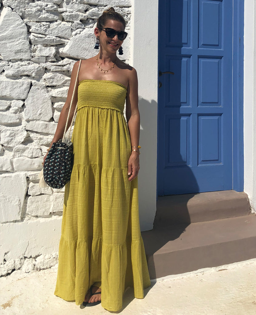 LILY STRAPLESS MAXI DRESS YELLOW