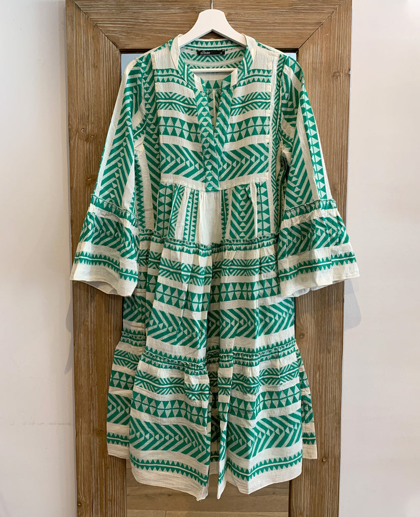 MIDI DEVOTION TUNIKA KLEID GREEN