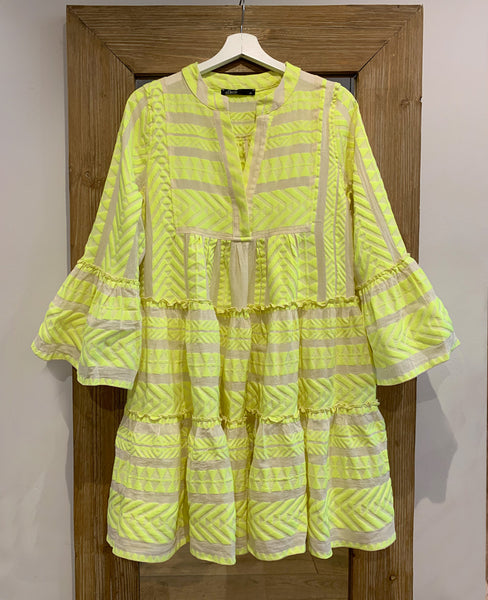 Devotion Twins Neon Dress Yellow Lemoni Concept Store For Design Fashion From Greece