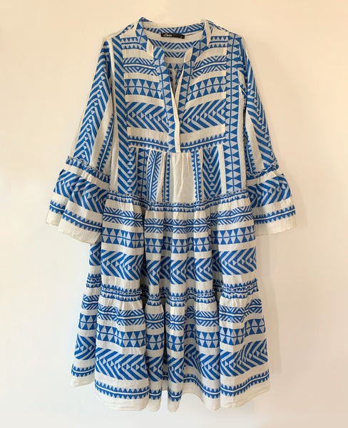 MIDI DEVOTION TUNIKA KLEID BLUE