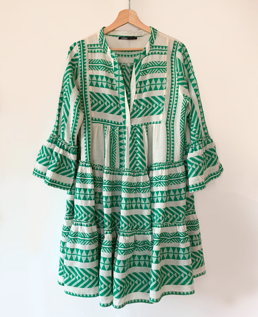 devotion tunika kleid grÜn / devotion dress green – lemoni