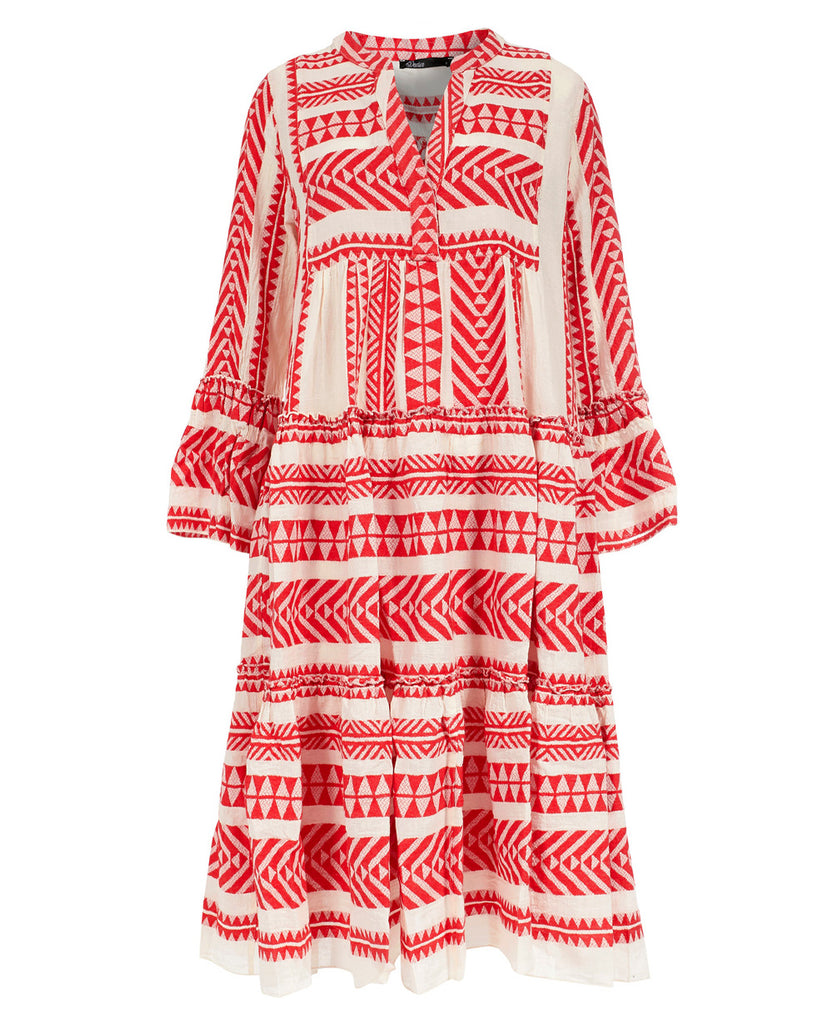 MIDI DEVOTION TUNIKA KLEID ROT