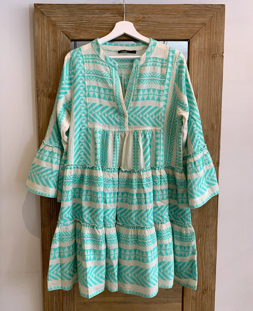 DEVOTION DRESS MINT-WHITE