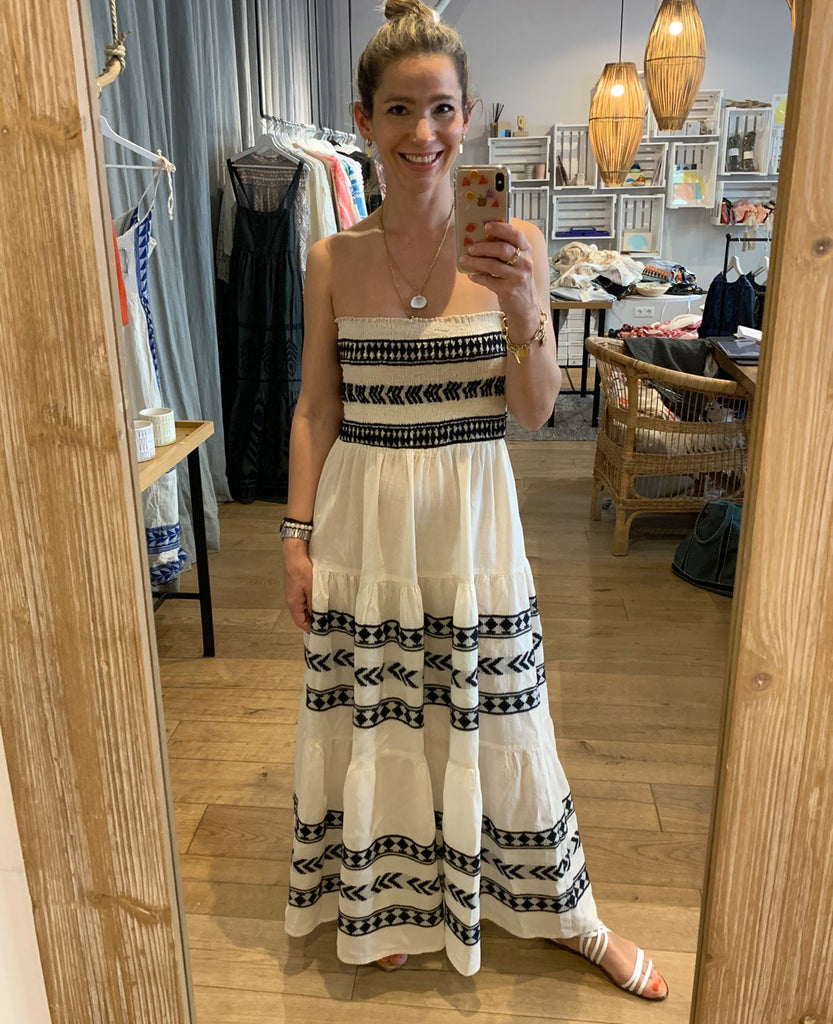 BLACK & WHITE BOHO DRESS/SKIRT