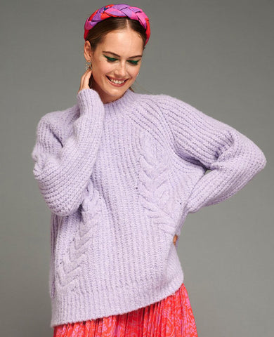 "OVERSIZE PULLOVER ""FANIA"" LILAC"