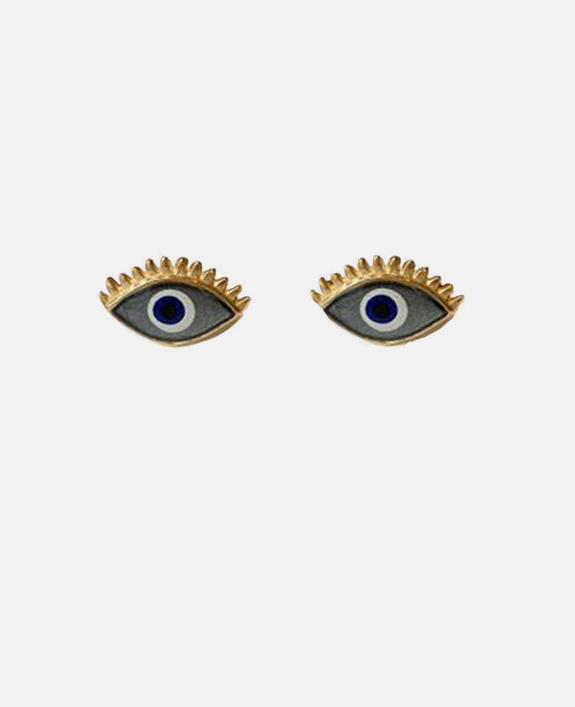 "EARRINGS ""EYE LOOK"" GOLD/GREY"