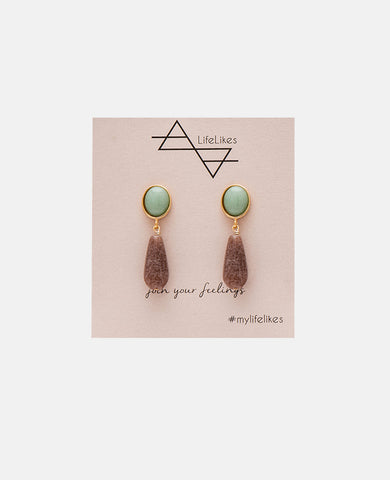 MIDSTONE DROP EARRINGS