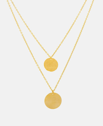"""DOUBLE COIN"" NECKLACE"