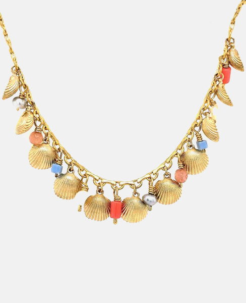 """SUMMER SHELL DROPS"" NECKLACE"