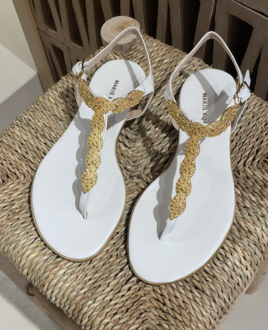 "SANDALS ""ANTHOS"" WHITE"