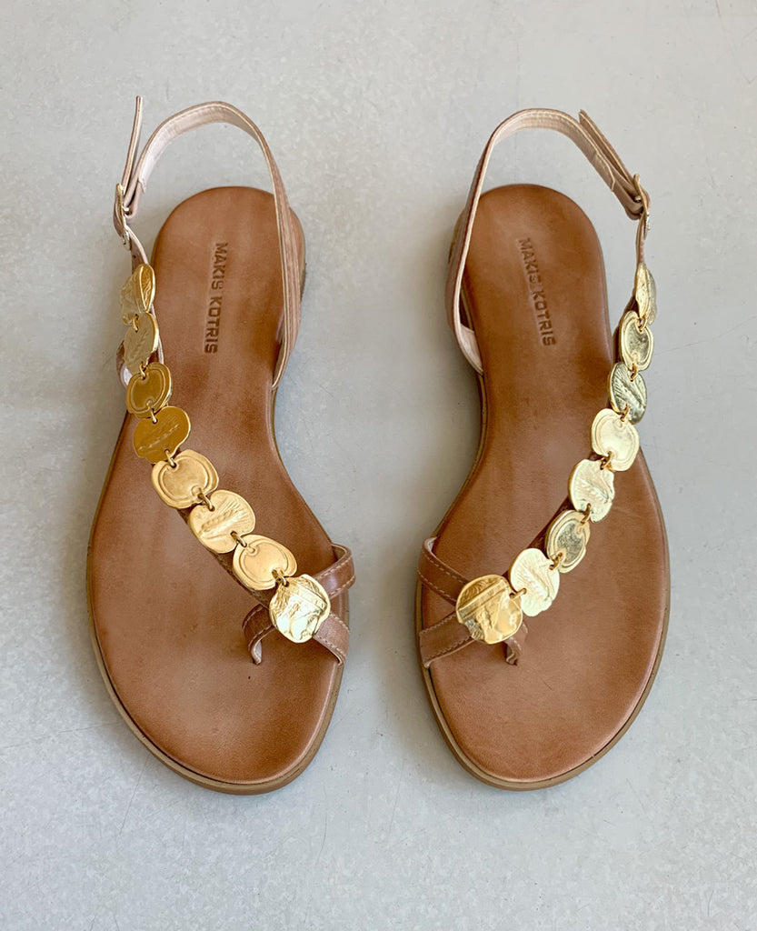 "SANDALS ""COINS"" NATURAL"
