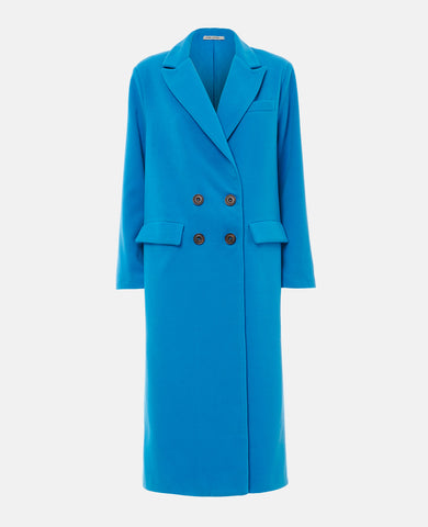 OVERSIZED LONG COAT BLUE