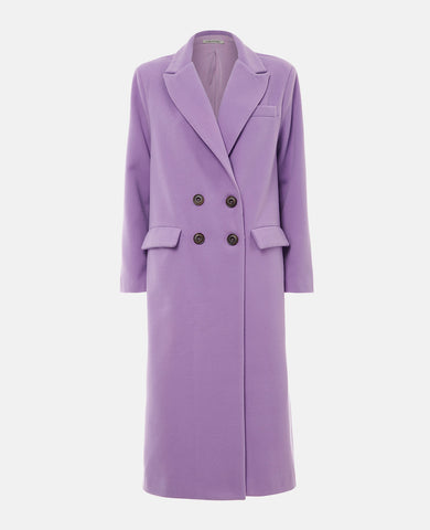 OVERSIZED LONG COAT LILAC