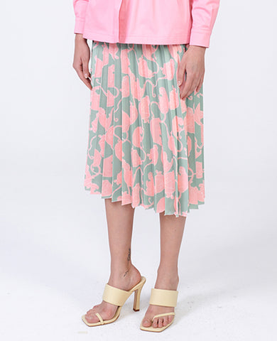 "PLEATED SKIRT ""LITTLE MONKEYS"" MINT"