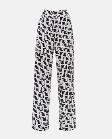 PRINTED LOGO PANTS