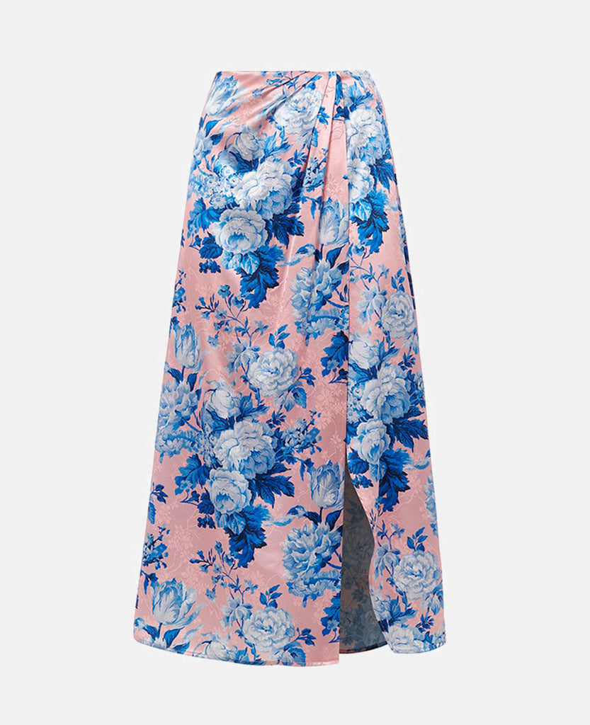 PRINTED SKIRT WITH SIDE VENT