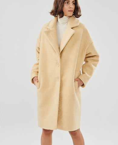 OVERSIZED COAT VANILLA