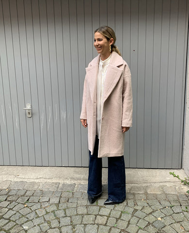 OVERSIZED COAT ROSE