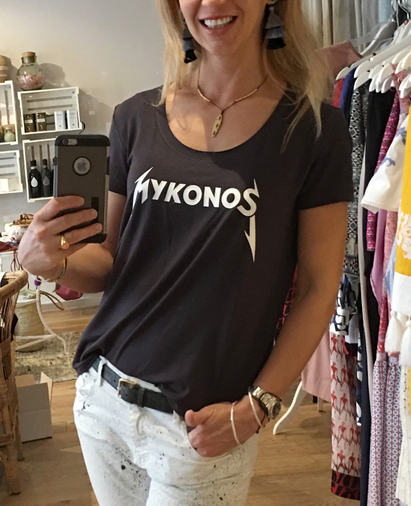 """MYKONOS ROCKS"" T-SHIRT"