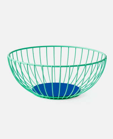 IRIS WIRE BASKET LARGE MINT/ BLUE