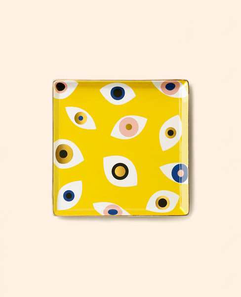 CERAMIC TRAY MATI YELLOW