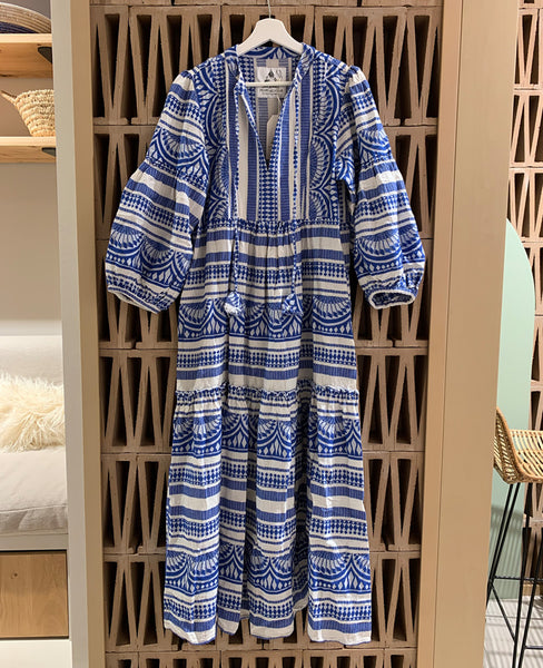 "LONG TUNIC DRESS ""CLEO"" COBALTBLUE"