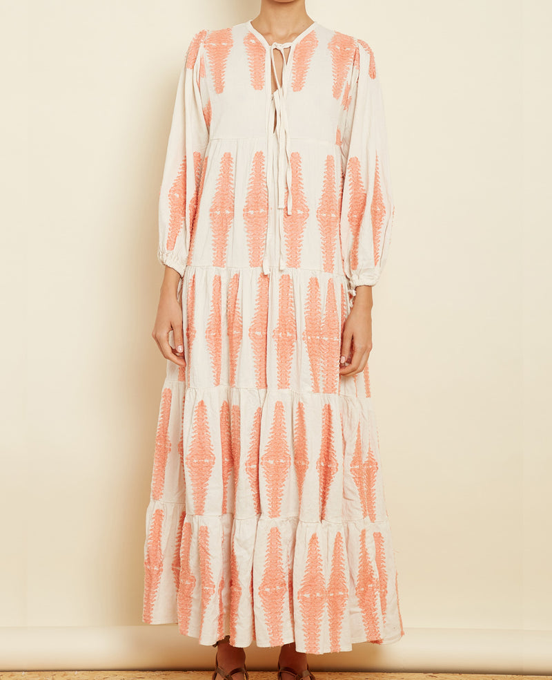 "LONG TUNIC DRESS ""SOPHIA"" APRICOT"