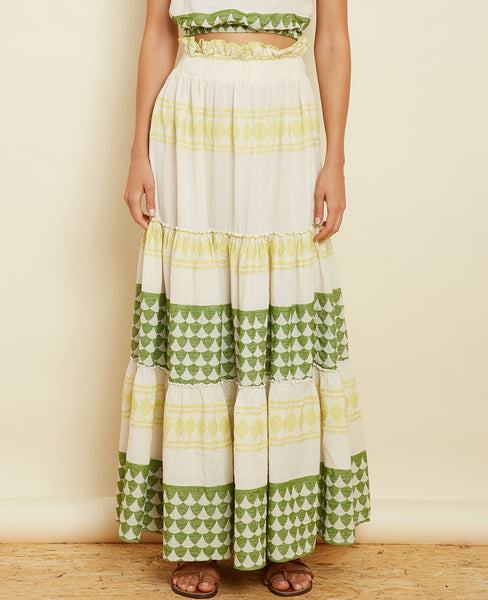 "MAXI SKIRT ""THALIA"" LIME"