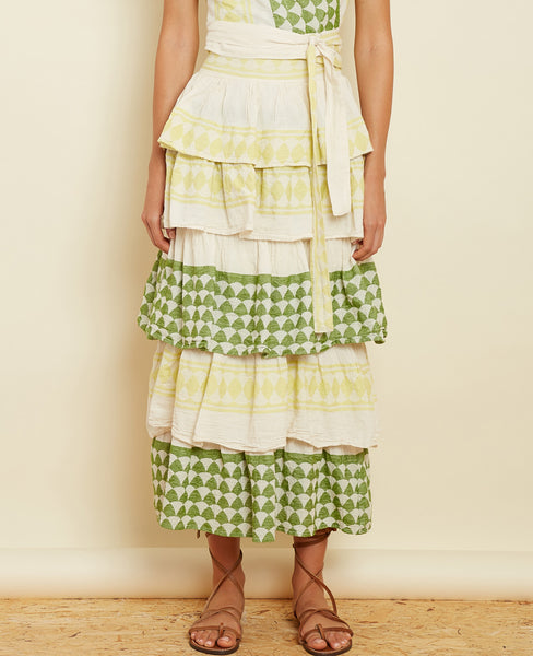 "VOLANT SKIRT ""THALIA"" LIME"