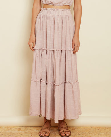"MIDI SKIRT ""CYANA"" DUSTY ROSE"