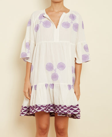 "SHORT TUNIC DRESS ""DANDELION"" LILAC"