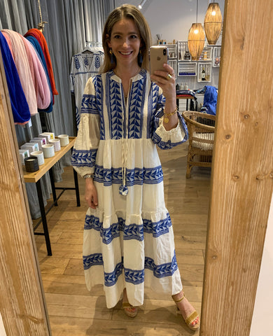 "LONG TUNIC DRESS ""VARKIZA"" BLUE"