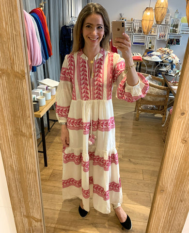 "LONG TUNIC DRESS ""VARKIZA"" FUCHSIA"