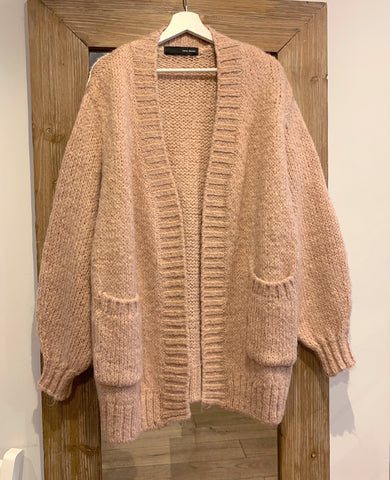 OVERSIZED CARDIGAN ROSE