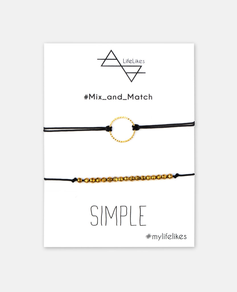 """SIMPLE"" CHARM SET BLACK"