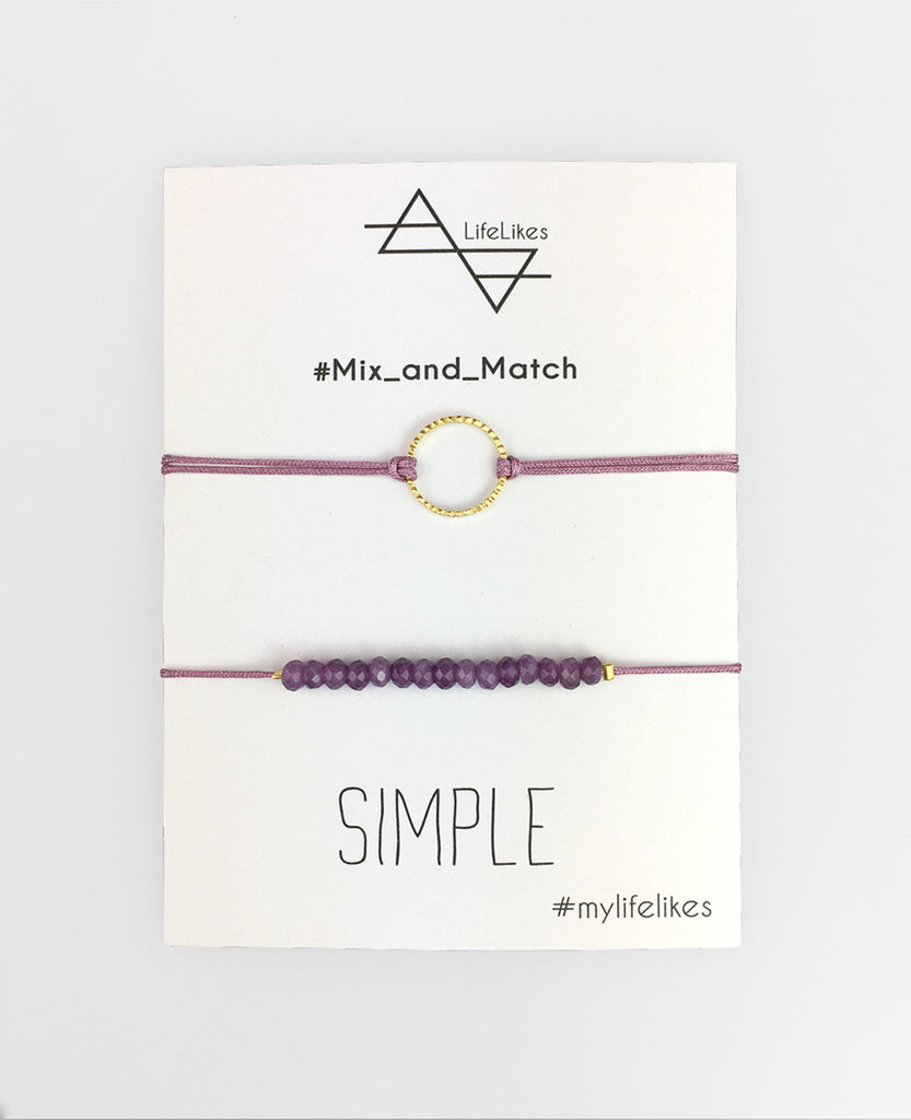 """SIMPLE"" CHARM SET MAUVE"
