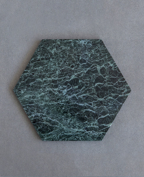 "MARMOR TABLETT ""HEXAGON TINOS GREEN"""