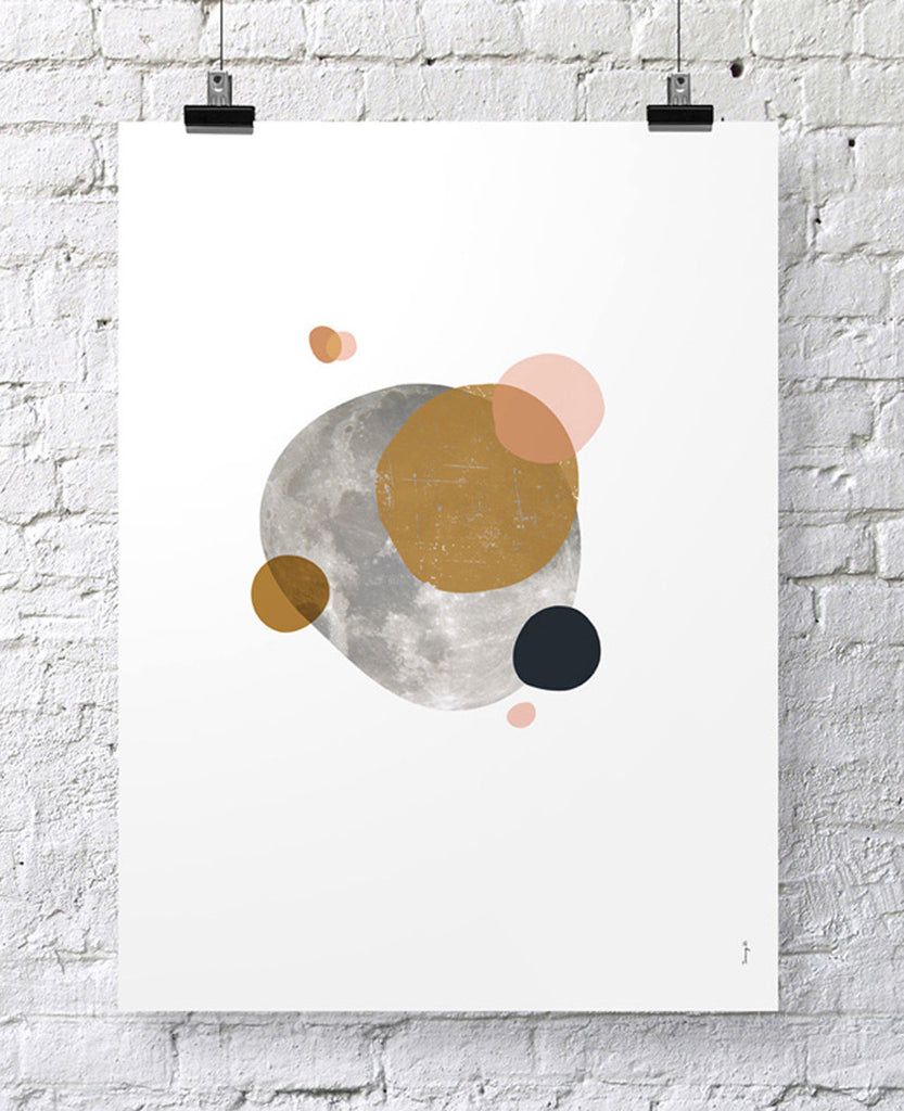 "POSTER ""OTHER SIDE OF THE MOON II"""