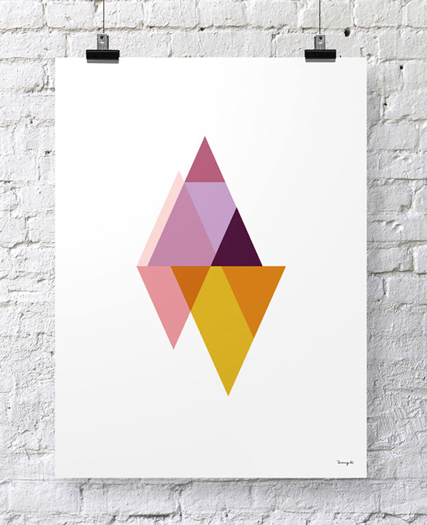 "POSTER ""TRIANGLES I"""