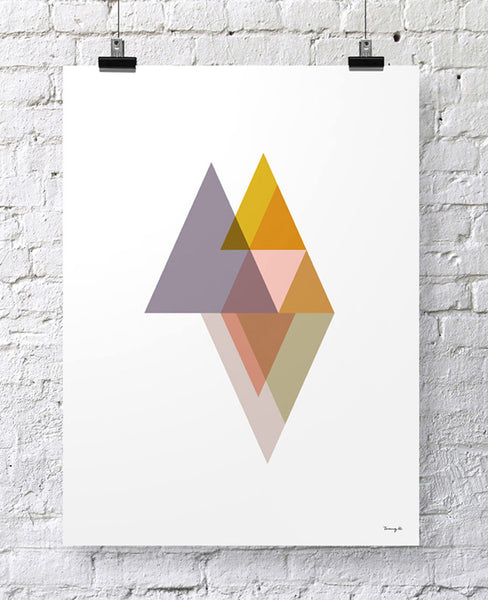 "POSTER ""TRIANGLES II"""