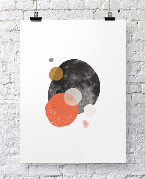 "POSTER ""OTHER SIDE OF THE MOON I"""