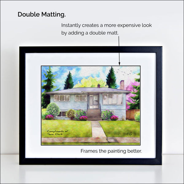 basic frame double matted