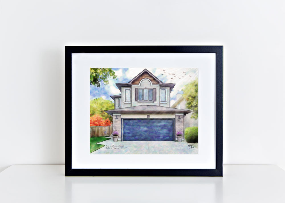 russell mcrae, mcrae house portraits, house portraits, realtor gifts, chris smith realtor, realtyforsmartpeople, realtor gifts for clients, client gifts, house portraits