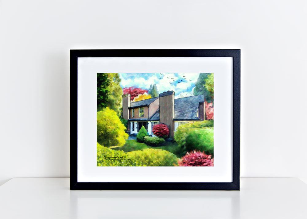russell mcrae, house portrait artist, house portraits , house portrait, closing gift for realtor , resident expert