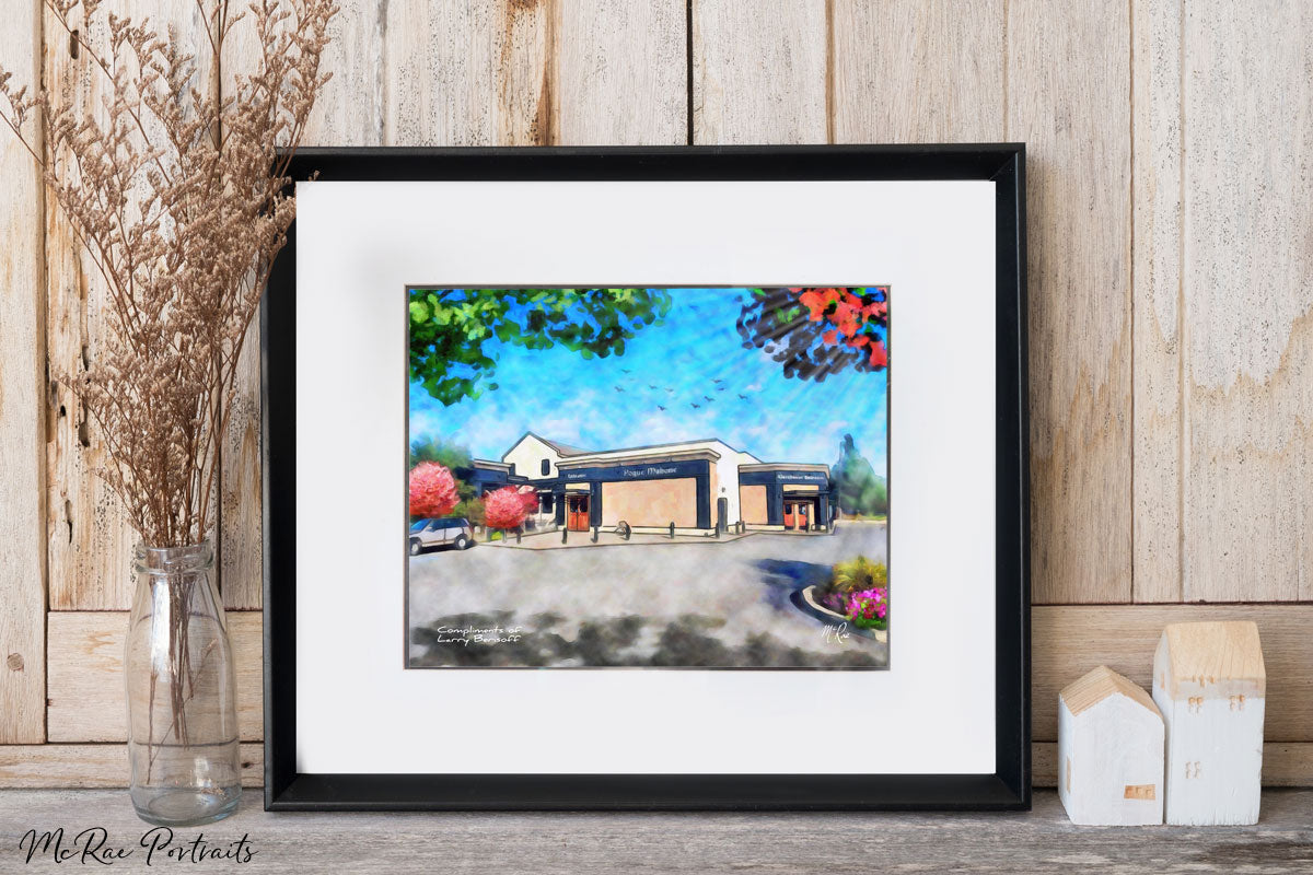 larry berisoff, larry berisoff remax, russell mcrae, house portrait, closing gift for realtors