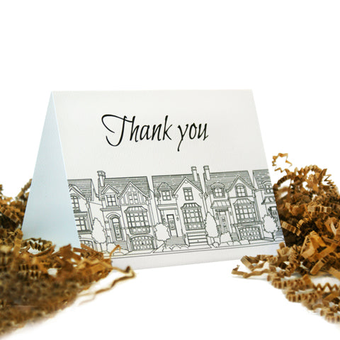 a thank you card