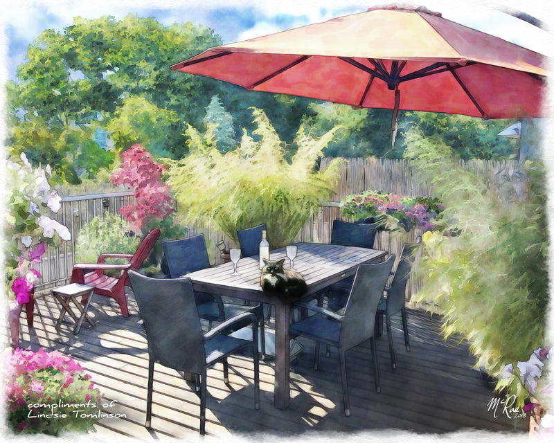 We also create portraits of patios and views