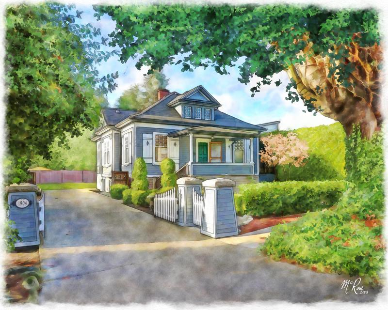 a wonderful house portrait, a closing gift for your clients.